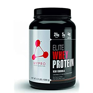 Mypro Sport Nutrition Elite Whey Protein New Formula Contribute To Muscle Development (24g Protein, 0g Sugar,5. 5G BCAA, 33 Servings) Belgium Chocolate Flavor For Men And Women (1000 gm)