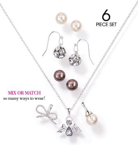 Avon, Festive Interchangeable Pendant and Earrings Christmas Gift Set