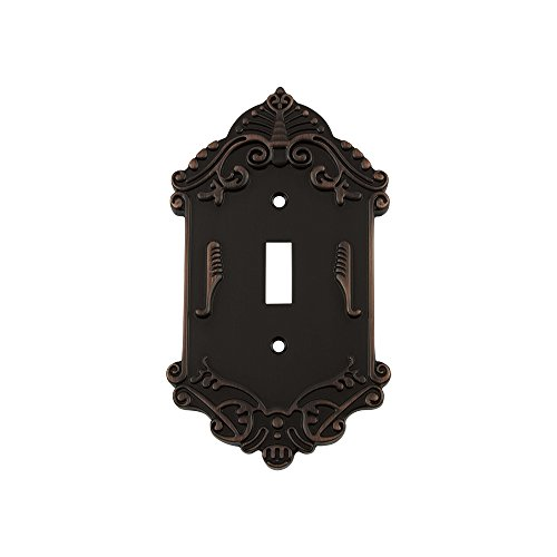 Nostalgic Warehouse 719650 Victorian Switch Plate with Single Toggle, Timeless Bronze ()