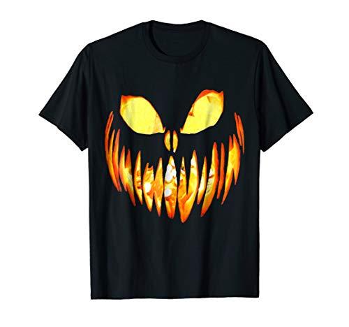 Halloween Jack O' Lantern Scary Pumpkin Face T-Shirt