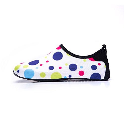 Lekuni Barefoot Schage Water Swim Shoes Aqua multicolor Pour De Chaussettes Lk Arobic Bd Femmes Beach Surf Piscine Chaussures Yoga Rapide Skin 41qvd