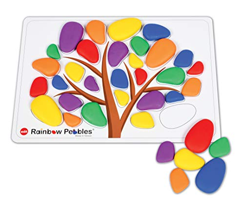 edx Education Rainbow Pebbles Activity Set - Sorting and Stacking - Construction - Early Math Activity