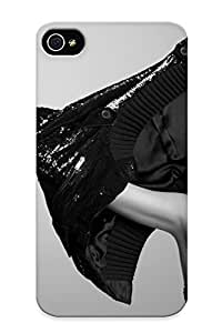 Rightcorner Case Cover For Iphone 4/4s - Retailer Packaging Women Hilary Duff Celebrity Monochrome Protective Case
