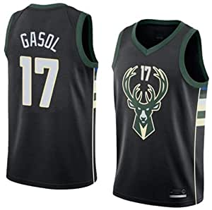 PERFECT Camiseta PAU Gasol Milwaukee Bucks Negra,Camiseta ...