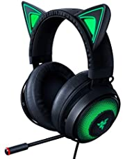 Razer Kraken Kitty Chroma USB Gaming Headset: Retractable Noise Cancelling Mic - Lightweight Aluminum Frame - for PC, Xbox, PS4, Nintendo Switch - Black