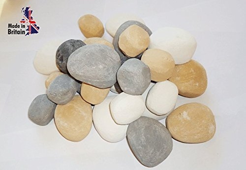 20 gas fire replacement pebbles small and large (MIXED SIZE AND COLOUR) firebrand uk