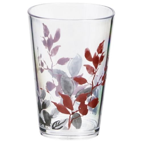 Corelle Coordinates by Reston Lloyd Kyoto Leaves Acrylic Square Juice Glasses, 8-Ounce, Set of 6