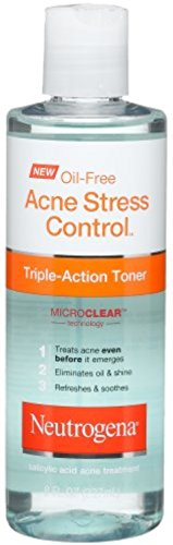 Neutrogena Oil-Free Acne Stress Control Triple Action Toner 8 oz (4 Pack)