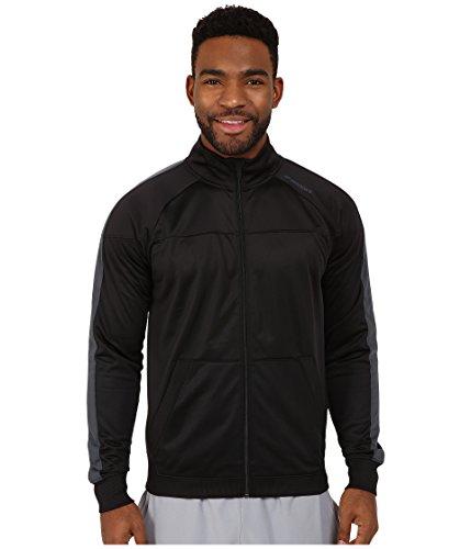 (Brooks Men's Rally Jacket, Black/Asphalt LG)