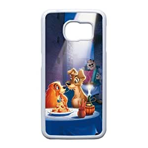 Personalized Durable Cases Samsung Galaxy S6 Edge Cell Phone Case White Ysvps Lady and the Tramp Protection Cover