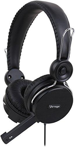 Vorago BOCVGO270 Diadema HS-201 con Micrófono, Color Negro