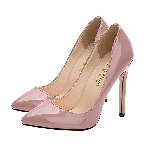 Stiletto Rosa Huatime A Alto Verniciato Donna Chiusa Scarpe Comfort Moda Formale Spillo Punta Pelle Vestito Decollete Corte Tacco TrAEqHwT