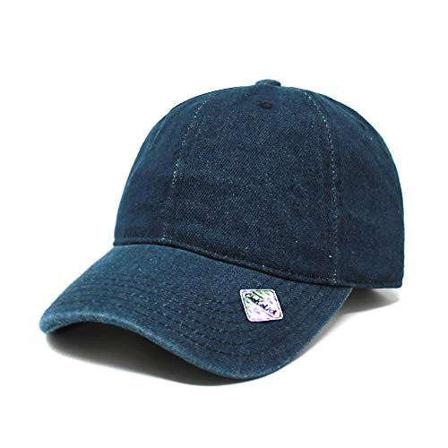 (ChoKoLids Cotton Dad Hat Adjustable Blank Cap Low Profile Unstructured Polo Style (Dark Denim))