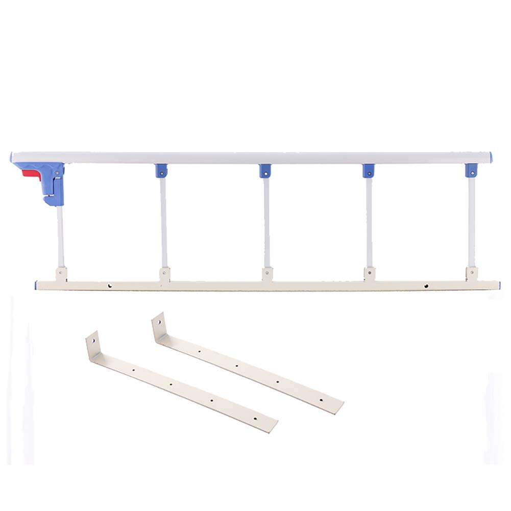 Silver white 120×35cm Elderly Safety Bedside Guard, Folding Bed Assist Bar Handle Medical Supply Hospital Aluminum Alloy Bed Railing (color   Champagne, Size   120×35cm)