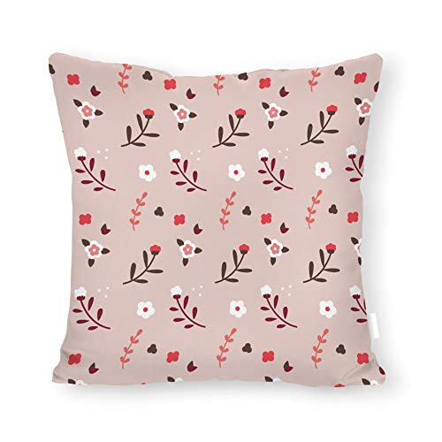 2017a3346a0f DKISEE Abstract Pink Floral Pattern Square Throw Pillow Cover Canvas Pillow  Case Sofa Couch Chair Cushion Cover for Home Decor