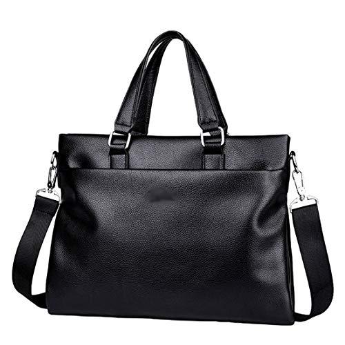 Bolso Negro Cuero Maletines Marrón 37 Pequeña Mensajero Ordenador 27 Handbag de Heeyuan Mano 3cm Bolsa de de Portátil Bolsa Hombro PU Bolso q1FzFCw