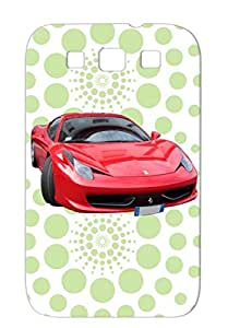 TPU Red Shockproof 458 Ferarri Italia Cars Vehicles Drift Drag Racing Race Case Cover For Sumsang Galaxy S3