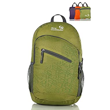 Outlander Packable Handy Lightweight Travel Hiking Backpack Daypack-Green-L