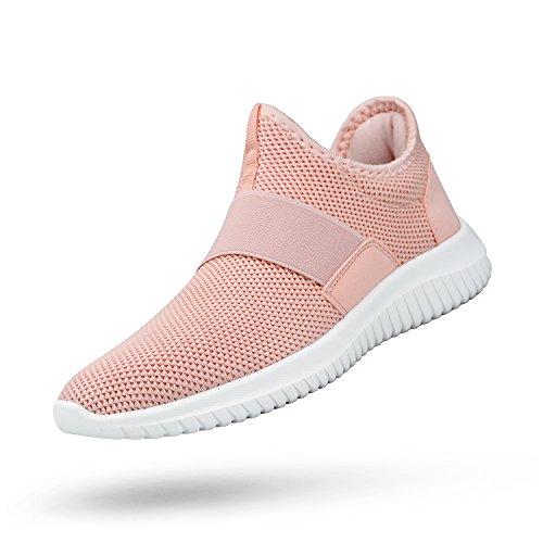 Senza Sportive Rosa per Scarpe ZOCAVIA Lacci Sneakers Uomo Correre da O6gqw