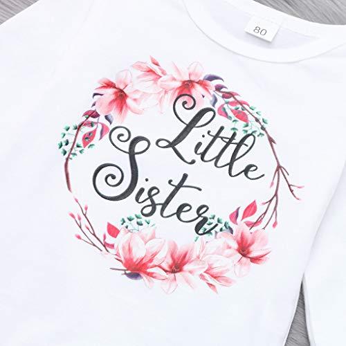 feiXIANG Bebé recién Nacido Set Boy Girl Baby Girl Baby Carta de Manga Larga con Estampado Floral Mono + Pantalones + Sombrero de Tres Piezas: Amazon.es: ...