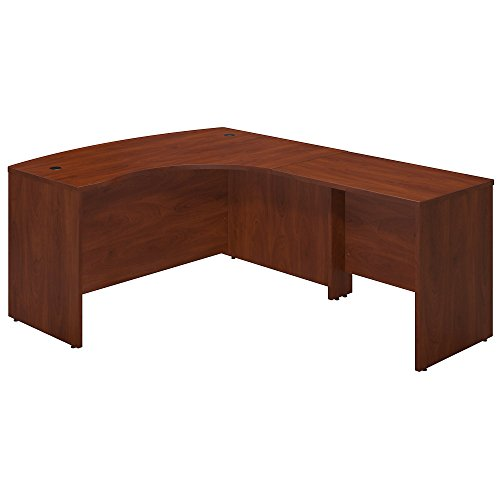 Bush Business Furniture Series C Elite 60W x 43D Right Hand Bowfront Desk Shell with 36W Return in Hansen Cherry ()