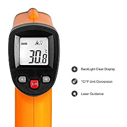 Infrared IR Thermometer - Digital Laser Temperature Gun -58°F to 1022°F (-50°C to 550°C) for Home Repairs, Auto Maintenance, Food Cooking, 9 V Battery Included