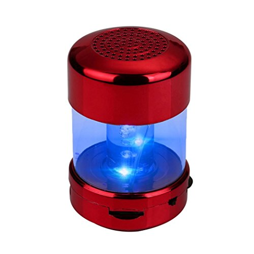Multifunction Audio Htc (Led Speaker,AutumnFall A66 Portable Mini Wireless Stereo Bluetooth Speakers For iPhone Tablet PC FM (Red))
