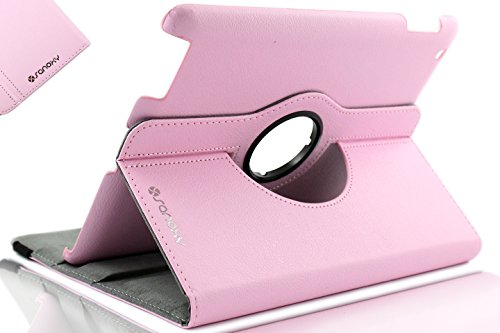 Sanoxy 360 Degree Rotating Stand PU Leather Case Cover with Auto Sleep / Wake Feature for iPad 2/3/4, Pink (Pnk Pink Leather)
