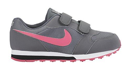 Nike MD Runner 2 (PSV), Zapatillas de Deporte Para Niñas Gris / Rosa / Negro (Cool Grey / Hyper Pink-Black)