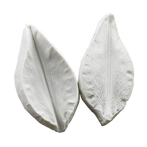 (Rita Home Decor 2Pcs/Set Daffodil Leaves Veiner Silicone Mold DIY 3D Soap GumPaste Mold Fondant Sugarcraft Mould Set Cake Decorating Tool Bakeware Chocolate Gumpaste)