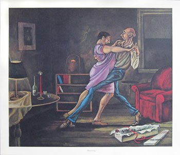 Ernie Barnes Annniversary Print 18 x 21 in.