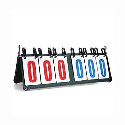 HEATAPPLY Football, 4/6 Digit Scoreboard Separator Portable Sports Match Football Basketball Game Judge Flip Score Board, 6