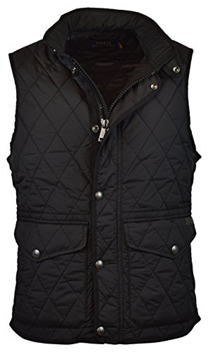 Jacket Ralph Lauren Black Label - Polo Ralph Lauren Men's Iconic Quilted Vest - M- Polo Black