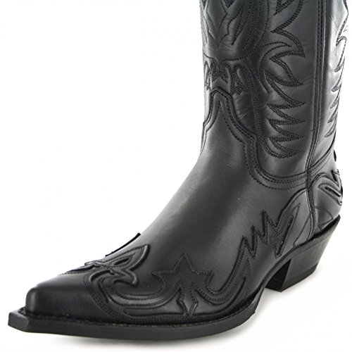 Fashion Boots BU1004 Schwarz-Black Damen & Herren Westernstiefel