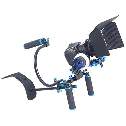 YLG0102D デュアルハンドル カメラショルダーマウントキット マットボックス付き デジタル一眼レフカメラ/ビデオカメラに対応   B07MQJN438