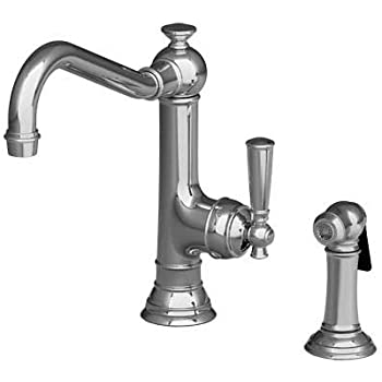 Newport Brass 2470 5313/26 Jacobean Single Handle Kitchen Faucet With Side  Spray Polished
