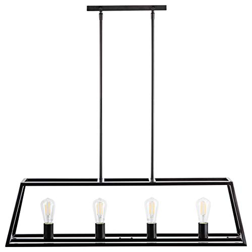Lorenzi 4 Light Kitchen Island Pendant - Bronze w/LED Bulbs - Linea di Liara LL-P12-6DB-LED