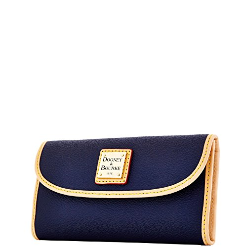 Carley amp; Midnight Cotton Coated Bourke Continental Blue Clutch Dooney UFwREqR