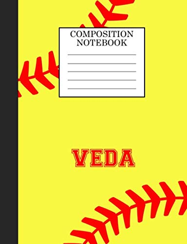 Veda Composition Notebook: Softball Composition Notebook Wide Ruled Paper for Girls Teens Journal for School Supplies | 110 pages 7.44x9.269 por Sarah Blast