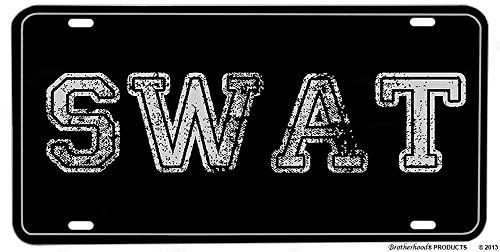 Special Assault Weapon - BrotherhoodProducts SWAT Special Weapons Assault Team Silver License Plate