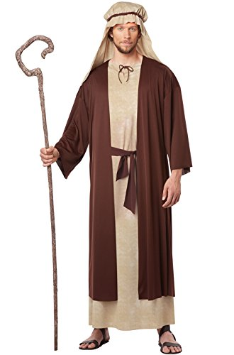 California Costumes Men's Saint Joseph Adult, Tan/Brown, X-Large (Christmas Nativity Costumes)