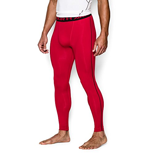 Under Armour Men's HeatGear Armour Compression Leggings, Red /Black, XX-Large