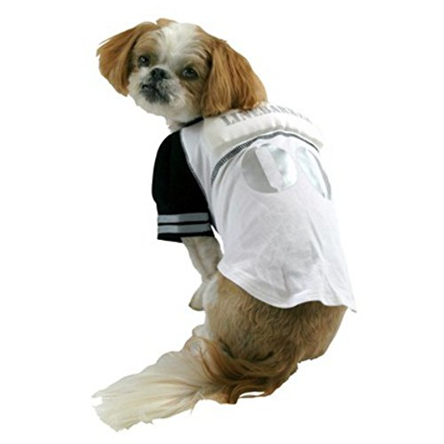 Linebarker Dog Costume Padded Line Backer Pet Tee Halloween Football T-Shirt by (Dog Halloween Costumes Football Player)