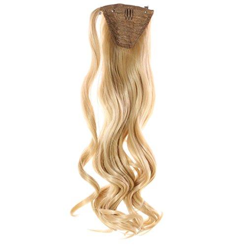Pferdeschwanz 60cm 100g Gewellt N 22 Goldblond Haarteil