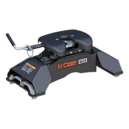 CURT 16039 Q25 Black 5th Wheel Hitch for Ford Puck