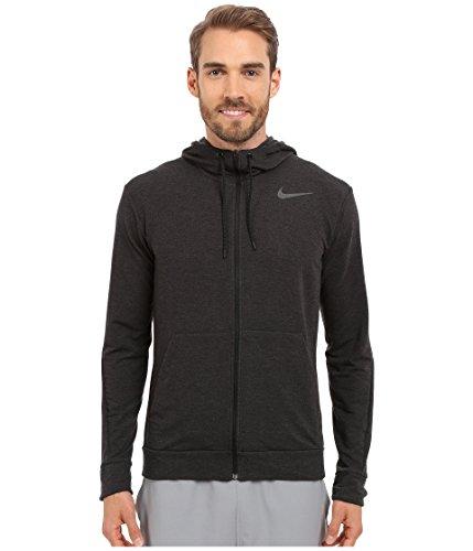 Nike Men's Dri-FIT Fleece Full-Zip Training Hoodie Black/Black Sweatshirt SM