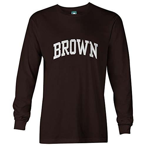 Brown University Long Sleeve T-Shirt By Ivysport - Classic Logo, 100% Cotton, Brown, Long Sleeve T-Shirt