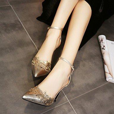LvYuan sandalias de los zapatos del club primavera verano del zurriago de fiesta&noche tacón de aguja Silver