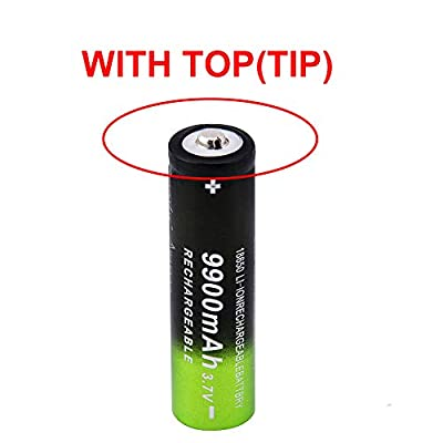 10 Pack 5800mAh, 3.7V Rechargeable Button Top, Li-ion 18650-Battery, 10pcs Batteries +2pcs Smart Charger Set Power for Electric Tools, Toys, LED Flashlights