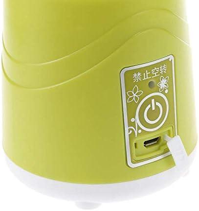 Multifonctionnel mélangeur portable centrifugeuse A11b presse-agrumes rechargeable avec lame en acier inoxydable - Azure ggsm